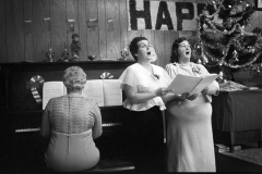 Christmas singing trio